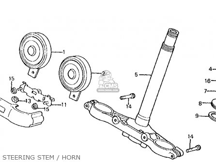 Honda Vt750c Shadow 1983 d Usa Steering Stem   Horn