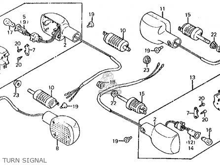 Honda Vt750c Shadow 1983 d Usa Turn Signal