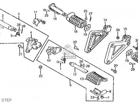 honda vt750c shadow 750 1983  d  usa parts list