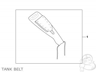 honda vt750dc shadow 2002 (2) korea / mm tank belt