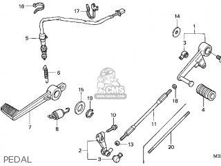 Honda VTR1000F SUPERHAWK 1998 (W) USA parts lists and ...
