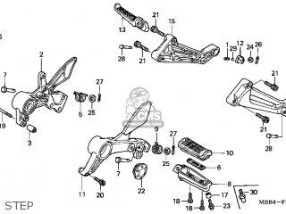honda vtr1000f superhawk 1998  w  usa parts list