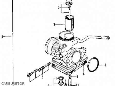 Honda Xl100 K0 1974 Usa Carburetor
