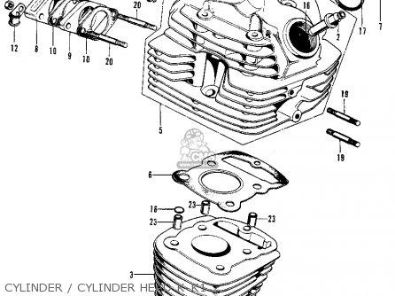 Honda Xl100 K0 1974 Usa Cylinder   Cylinder Head K-k1