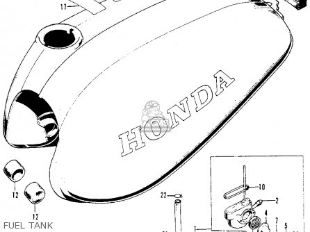 Honda Xl100 K0 1974 Usa Fuel Tank