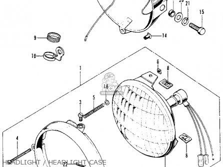 Honda Xl100 K0 1974 Usa Headlight   Headlight Case