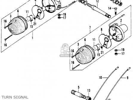 Honda Xl100 K0 1974 Usa Turn Signal