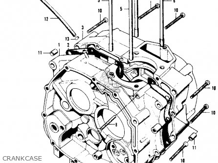 Honda Xl100 K0 Usa Crankcase
