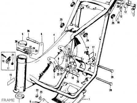 Honda Xl100 K0 Usa Frame