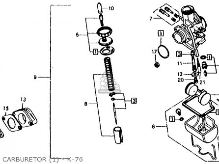 Honda XL125 K0 1974 USA parts lists and schematics