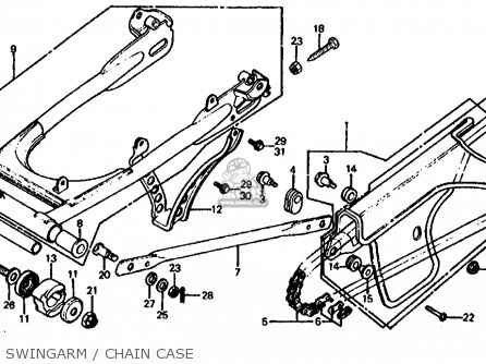honda xr600r wiring diagram with Honda Xl125s 1981 Usa Swingarm Chain Case on 1992 Xr600r Wiring Schematic Usa as well 10 Pin Yamaha Outboard Wiring Harness together with Viewtopic likewise Xr400r Wiring Diagram as well Honda Xl125s 1981 Usa Swingarm Chain Case.