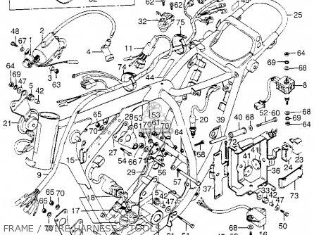 xl175 wiring diagram honda xl175 k1 1974 usa parts list partsmanual partsfiche 2005 chevy 2500 roof light wiring diagram