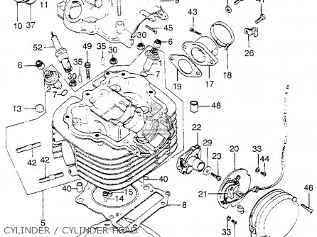 honda xl175 1976 usa parts lists