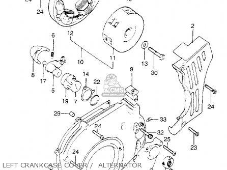 Honda XL175 K2 1975 USA parts lists and schematics on cb550 wiring, cb750 wiring, xl75 wiring,