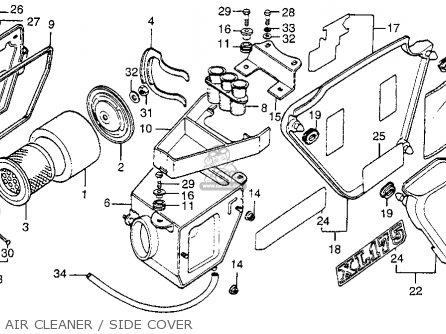 Honda Xl175 K4 1977 Usa Parts Lists And Schematics