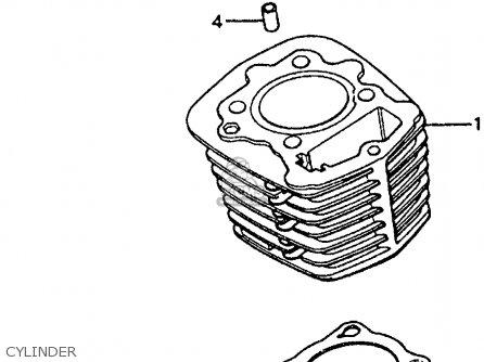 honda xl200r 1984 (e) usa parts lists and schematics on honda zb50  wiring diagram