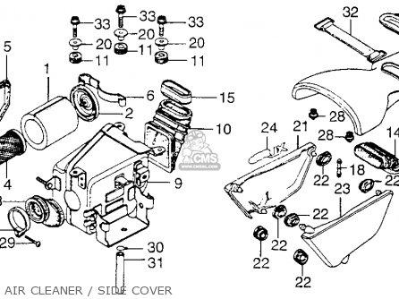 Honda Xl250 Motosport 1976 Usa Air Cleaner   Side Cover