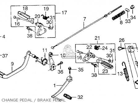Honda Xl250 Motosport 1976 Usa Change Pedal   Brake Pedal