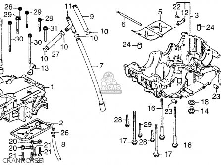 Honda Xl250 Motosport 1976 Usa Crankcase