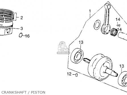 Honda Xl250 Motosport 1976 Usa Crankshaft   Piston