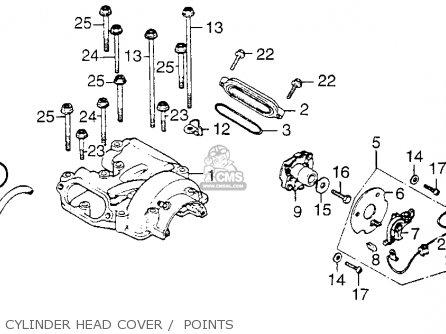 Honda Xl250 Motosport 1976 Usa Cylinder Head Cover    Points