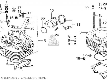 Honda Xl250 Motosport 1976 Usa Cylinder   Cylinder Head