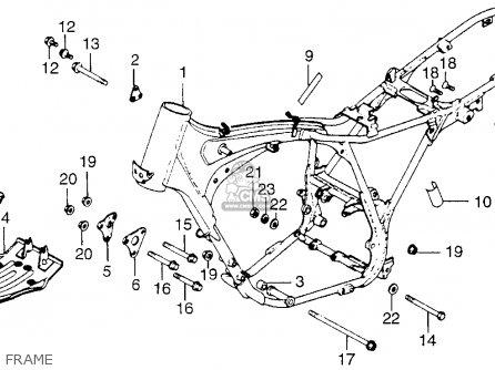 Honda Xl250 Motosport 1976 Usa Frame