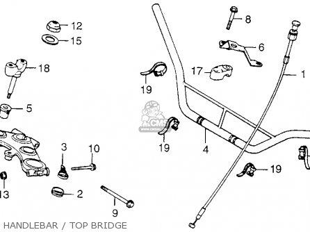 Honda Xl250 Motosport 1976 Usa Handlebar   Top Bridge