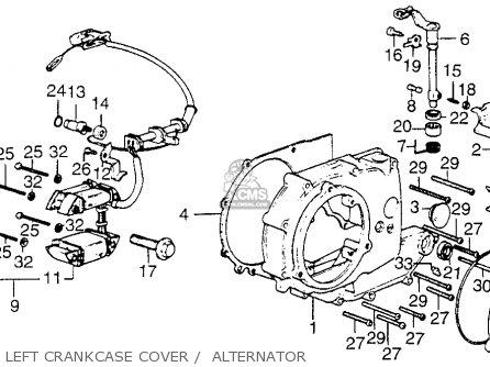 Honda Xl250 Motosport 1976 Usa Left Crankcase Cover    Alternator