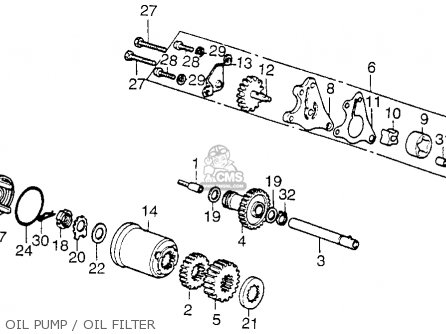 Honda Xl250 Motosport 1976 Usa Oil Pump   Oil Filter