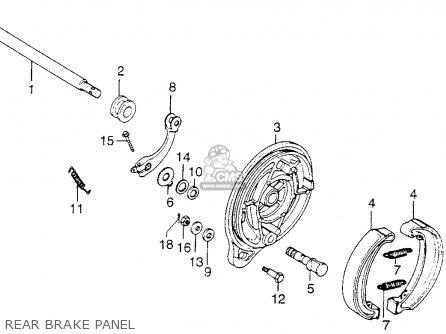 Honda Xl250 Motosport 1976 Usa Rear Brake Panel