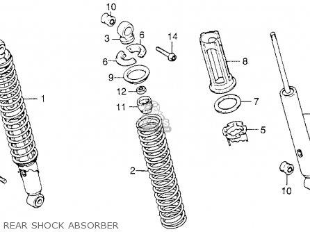 Honda Xl250 Motosport 1976 Usa Rear Shock Absorber