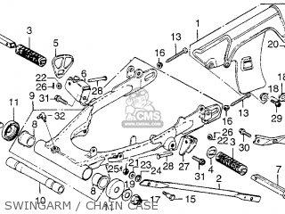 Honda Xl250 Motosport 1976 Usa Swingarm   Chain Case