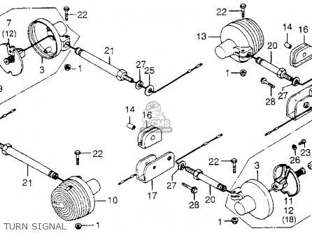 Honda Xl250 Motosport 1976 Usa Turn Signal