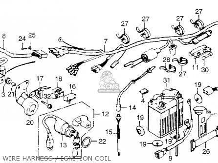 Honda Xl250 Motosport 1976 Usa Wire Harness   Ignition Coil