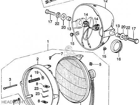 honda xl250 motosport k1 1974 usa parts list partsmanual. Black Bedroom Furniture Sets. Home Design Ideas