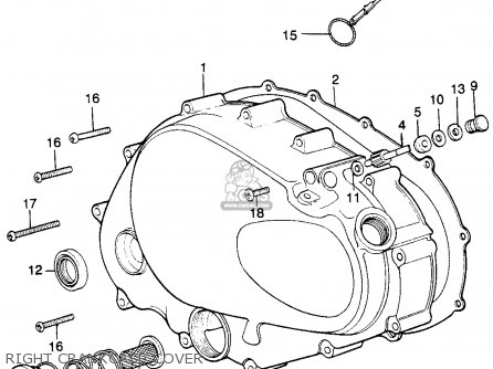 honda xl250 motosport k1 1974 usa parts lists and schematics Harley Headlight Wiring Diagram right crankcase cover