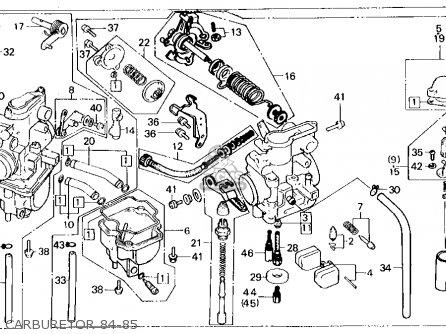 honda xl250r 1985 (f) usa parts list partsmanual partsfiche honda xl250r wiring