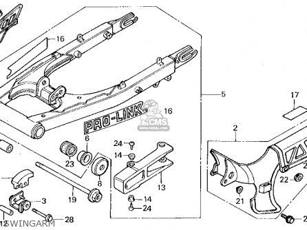 honda xl250r 1985  f  usa parts list partsmanual partsfiche