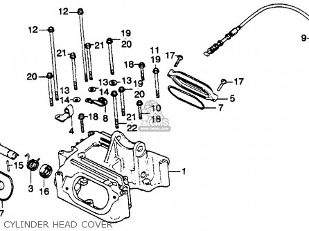 Honda XL250S 1980 (A) USA parts lists and schematics on