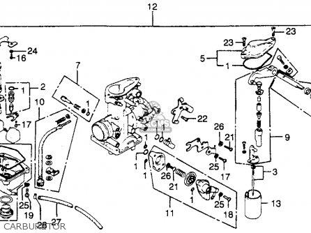Diagram Of Honda Motorcycle Parts 1976 Xl350 A Carburetor 76 Diagram