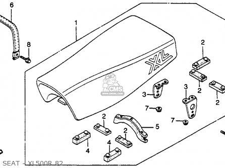 Honda Xl500r 1982 c Usa Seat - Xl500r 82