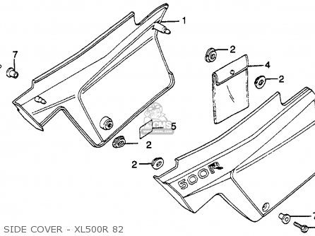 Honda Xl500r 1982 c Usa Side Cover - Xl500r 82