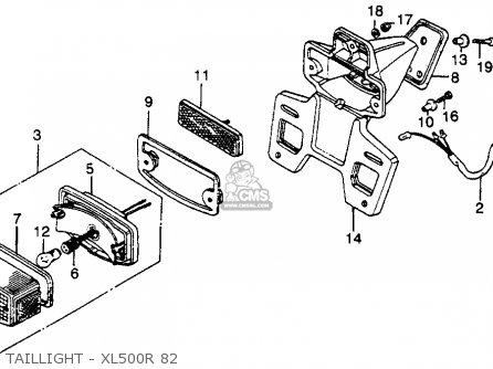 1982 Honda Xl500r Parts Fiche