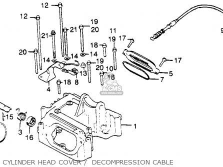 Honda Xl500r 1982 Usa Cylinder Head Cover    Decompression Cable