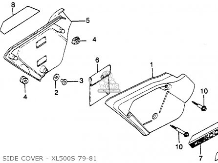 Honda Xl500s 1979 Usa Side Cover - Xl500s 79-81