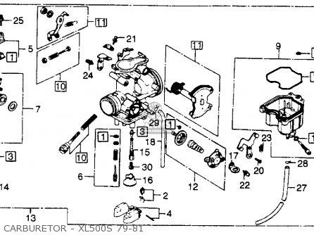 Honda Xl500s 1979 z Usa Carburetor - Xl500s 79-81