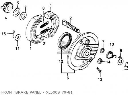 Honda Xl500s 1979 z Usa Front Brake Panel - Xl500s 79-81