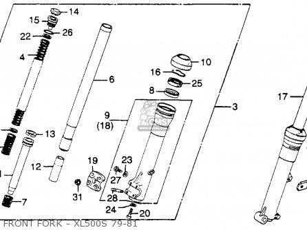 Honda Xl500s 1979 z Usa Front Fork - Xl500s 79-81
