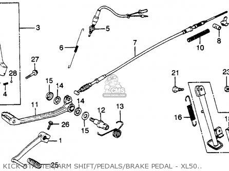 Honda Xl500s 1979 z Usa Kick Starter arm Shift pedals brake Pedal - Xl500s 79-81